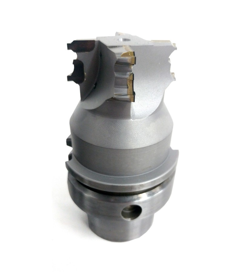 PCD round tools used to machine an Aliminium differential housing in the automotive industry